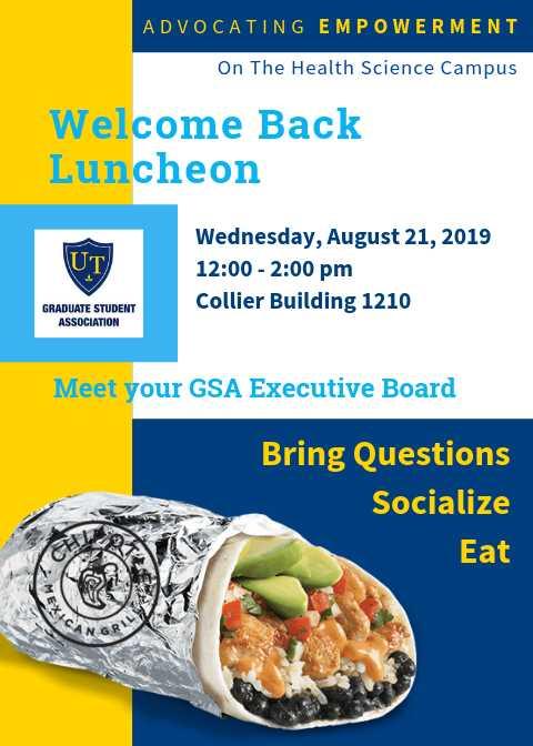 GSA Welcome Luncheon HSC